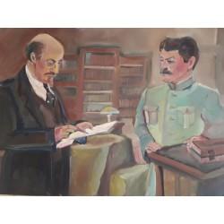 Lénine Staline 72 par 90 cm