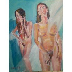 Deux nus copines  1m*80cm