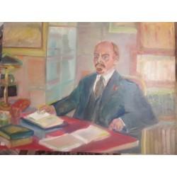 Lénine au travail 72 par92 cm